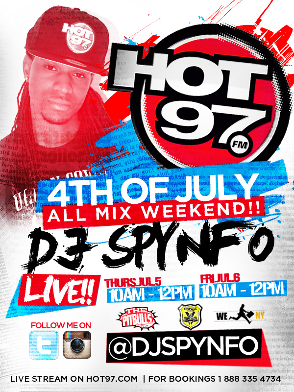 HOT 97 4TH OF JULY ALL MIX WEEKEND 2012