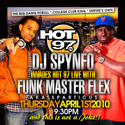 DJ SPYNFO 1ST TIME ON HOT 97!